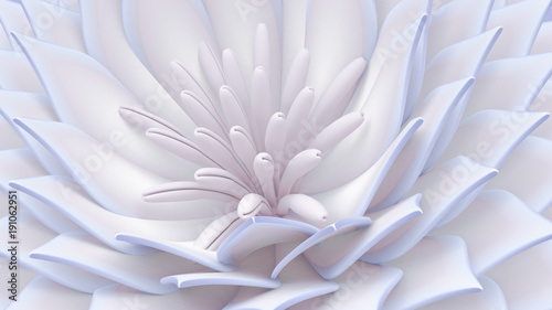 Fototapety na wymiar   beautiful-background-with-flowers-3d-illustration-3d-rendering