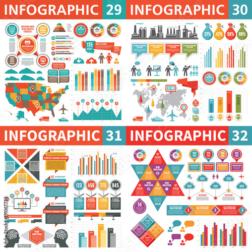 Infographic business design elements - vector illustration ...