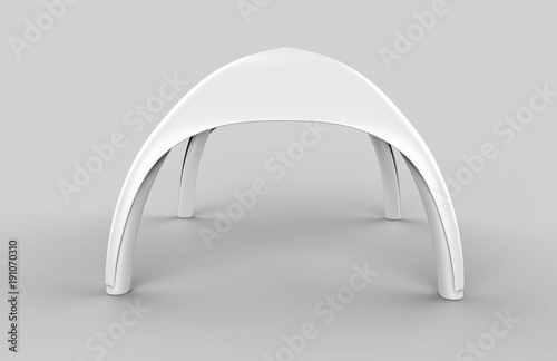Pop Up Dome Spider Inflatable Advertising Arch White Blank Tent Fototapeta