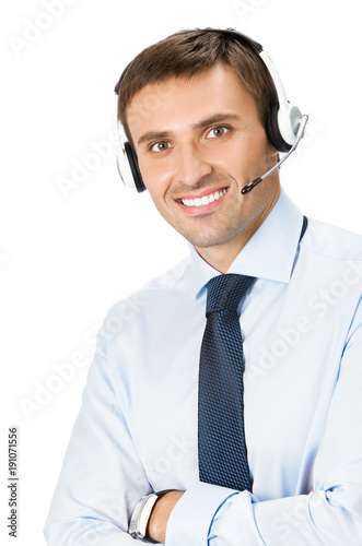 Phone Operator In Headset Isolated Buy This Stock Photo And Explore Similar Images At Adobe Stock Adobe Stock
