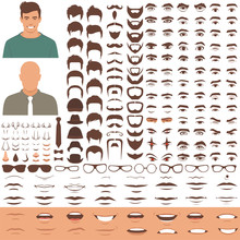 Vector Illustration Of Man Fac...