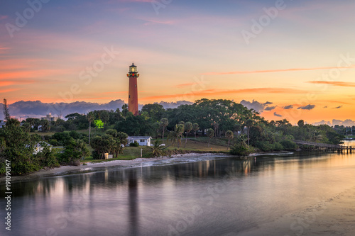 In de dag Vuurtoren Jupiter Inlet Light House