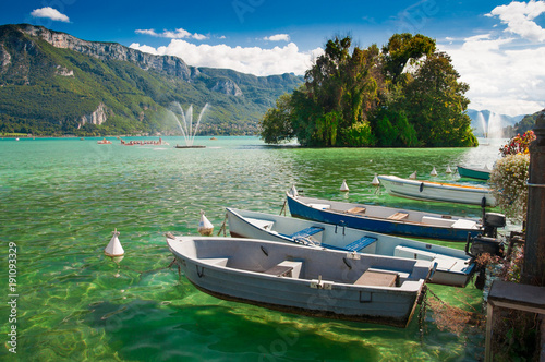 Lake Annecy Canvas Print