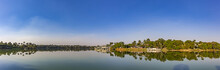 Belo Horizonte, Minas Gerais, Brazil. Panoramic View Of Pampulha Lake In A Beautiful Sunny Day And Blus Sky