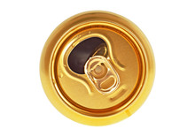 Beer Can On A White Background...