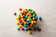 Colorful Chocolate Buttons In ...