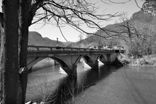 Bridge Near Lake Lure In North...