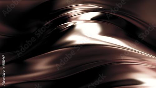 Photo  Golden smooth background. 3d illustration, 3d rendering.