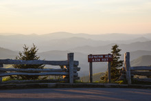 Sunset From Mount Mitchell, North Carolina; In The Blue Ridge Mountains Near Asheville