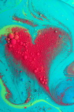 Abstract Red Heart From Acryli...