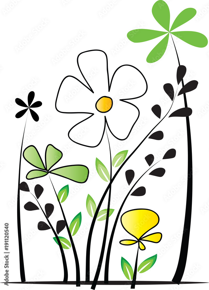 Piękny kwiatek z zielonymi liścmi