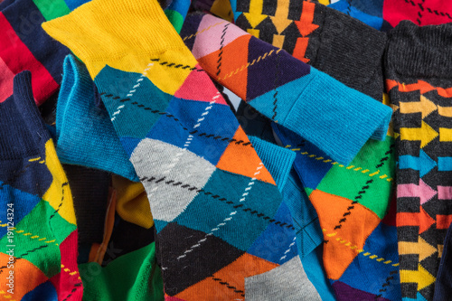 Fototapety, obrazy: Colorful Men's Socks