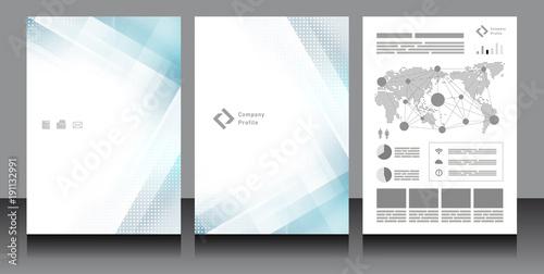 Cuadros en Lienzo 企業パンフレット表紙・テンプレート