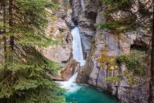 Lower Falls Of Johnston Canyon