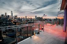 Luxury City Rooftop Balcony Wi...