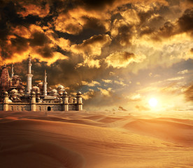 A fabulous lost city in the desert