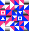 Geometric triangles elements memphis background template for cover. Bright minimal modern abstract design. Applicable for Covers, Voucher, Posters, Flyers and Banner Designs.