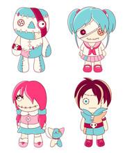 Set Of Cute Voodoo Dolls