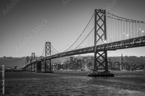 Bay Bridge Black and White