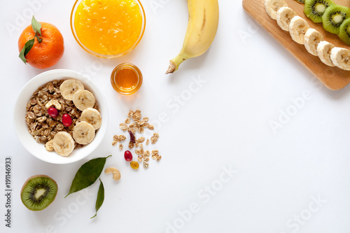 Fotomural Healthy breakfast with muesli