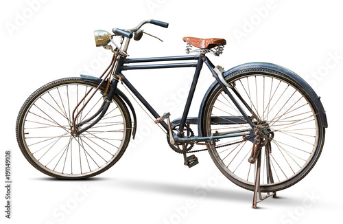 Türaufkleber Fahrrad Vintage bicycle isolated