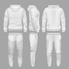 White Hooded Sweatshirt With S...