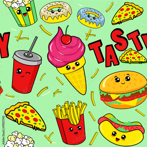 Food Kid Friendly Cute Drawings For Kids
