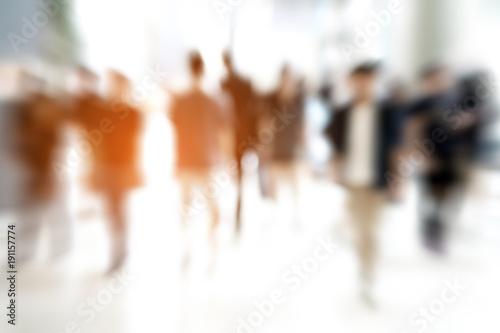 Canvastavla Abstract zoom blur people walking