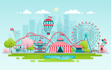 Amusement Park, Urban Landscape.