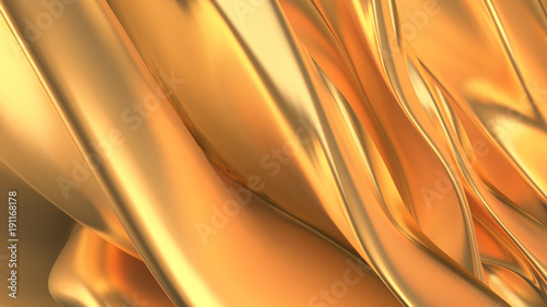 Acrylic Prints Abstract wave Beautiful, luxurious, luxury golden background. 3d illustration, 3d rendering.