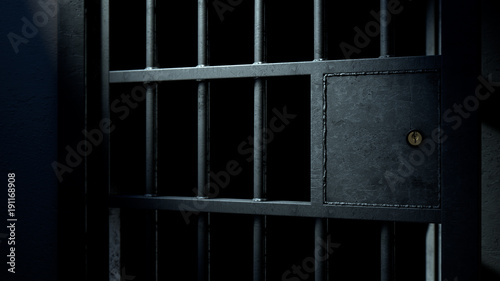 Photo Jail Cell Door And Welded Iron Bars