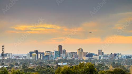 Fotografie, Obraz Adelaide city skyline view at sunset