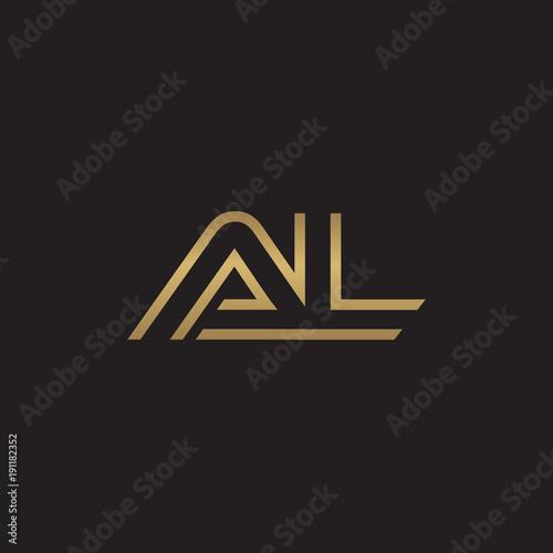 Photo initial letter logo line unique modern, gold color