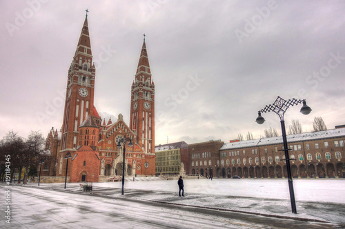 Szeged in winter, Hungary Wallpaper Mural