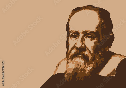 Fototapeta Galilée - savant - portrait - personnage historique - astronome - mathématicien