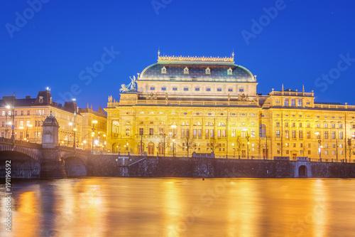Papiers peints Opera, Theatre National Theatre of Prague at Night