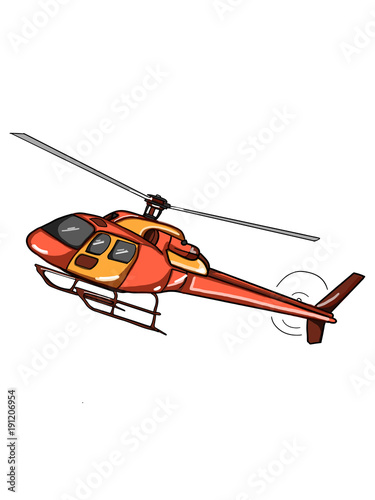 Staande foto Helicopter helicopter cartoon illustration