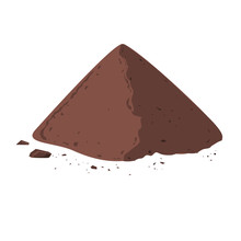 Pile Of Cocoa Powder. Cacao Is...