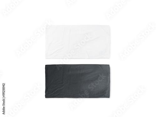 Papel de parede Blank black and white folded soft beach towel mockup