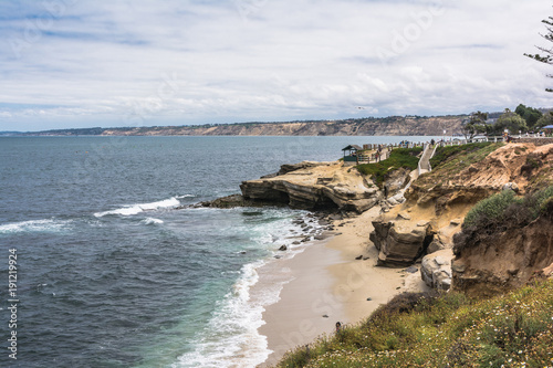 Tuinposter Kust The coast along La Jolla, California