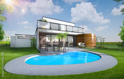 Maison individuelle moderne avec piscine et jardin – kaufen Sie ...