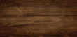 Dark stained wood boards with grain and texture. Flat wood background with parallel horizontal lines.