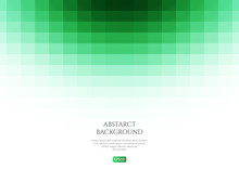 Abstract Background Green Rectangles. Space For Text.