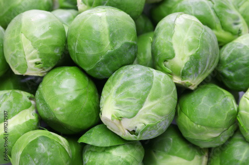 Foto op Canvas Brussel fresh brussels sprouts