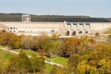 Harry S. Truman Dam In The Aut...