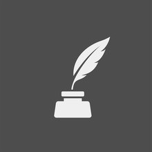 Feather Flat Vector Icon