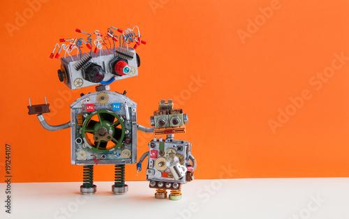 Fotografie, Obraz  Creative design Robotic family