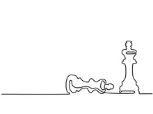 Continuous Line Drawing. Chess...