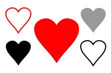 Serca Na Białym Tle