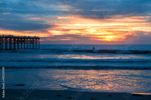 Canvas Prints Inspirational message pacific beach sunset